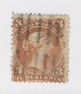 Canada Large Queen Used Stamp #25-3c F/VF Used Guide Value = $35.00