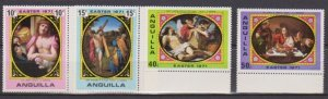 1971 Anguilla Scott 119-122 Easter MNH
