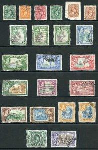 Jamaica SG121/133a 1938 KGVI set inc perfs Fine Used