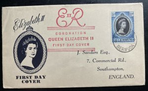 1953 St George Bermuda Coronation first day cover FDC Queen Elizabeth II QE2