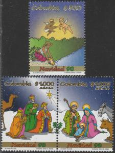 COLOMBIA 1147-1148, CHRISTMAS SEASON, 1998. MINT, NH. F-VF. (541)