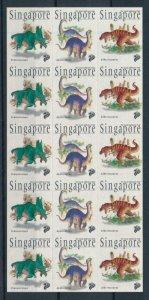 [106168] Singapore 1998 Prehistoric animals dinosaurs Albertosaurus Sheet MNH