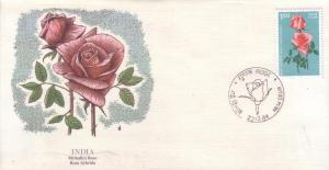 India FDC SC# 1074 Sugandha Rose L46