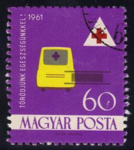 Hungary #1368 Ambulance & Stretcher, CTO (0.25)