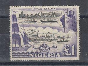 Nigeria QEII 1953 £1 SG80 MH J8390