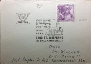 AUTRICHE / AUSTRIA / ÖSTERREICH 1976 Mi.1515 on FDC to Germany