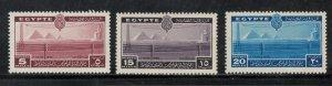 Egypt 1938 International Telecommunication Conference Scott # 228 - 230  MH