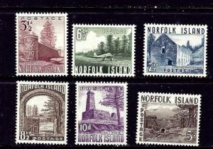 Norfolk Is 13-18 MLH 1953 set
