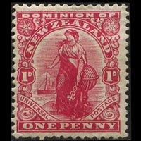 NEW ZEALAND 1908 - Scott# 129 Commerce Set of 1 LH