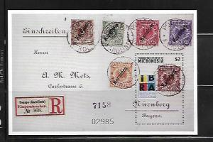 MICRONESIA, 342, MNH, SS, STAMP COLLECTING