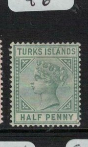 Turks Islands SG 20 MOG (1eln)