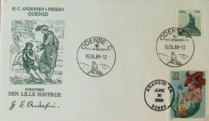HNLP Hideaki Nakano 3914 Little Mermaid on Greenland 1957 Fairy Tail Stamp