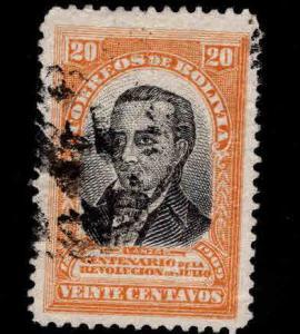 Bolivia Scott 80 Used 1909 stamp