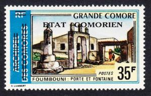Comoro Is. Overprint 'Etat Comorien' on 35 Fr SC#143 MI#196