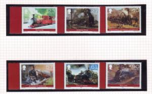 Isle of Man  Sc 1022-7 2004 Steam Locomotive stamps mint NH