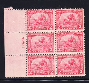 #549  Fine/NH Plate block