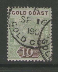 Gold Coast 1900 QV 10sh Sc 35 FU