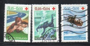 Finland Sc B176-78 1966 Red Cross charity stamp set used