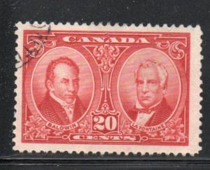Canada Sc 148 1927 20c Baldwin & Lafontaine stamp used