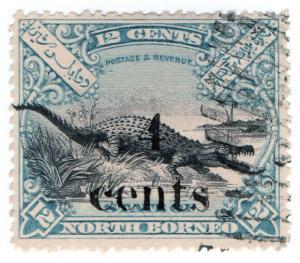 (I.B) British North Borneo Postal : 4c on 12c OP (State)