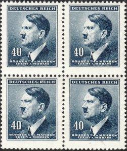 Stamp Germany Bohemia B&M Mi 091 Sc 64 Block 1942 WW2 War Fuhrer AH AH MNH