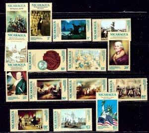 Nicaragua 978-88 and C876-79 MNH 1975 U.S. Bicentennial    (ap2042)