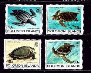 Solomon Is 489-92 MNH 1983 Turtles