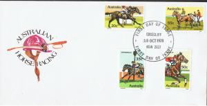 AUSTRALIA 1978 AUSTRALIAN HORSE RACING FIRST DAY COVER