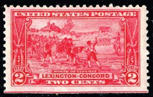 US STAMP #618 – 1925 2c Lexington-Concord Issue: Birth of Liberty MH/OG