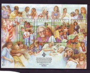 Canada Sc 1523 1994 International Year of the Family stamp sheet mint NH