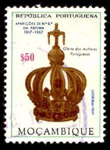Mozambique 1967 Virgin's Crown, Virgin Mary, Fatima 50c Scott.480 Used (#3)