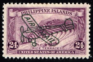 Philippines Stamp #C50 24c 1933 AIR MAIL MH/OG STAMP