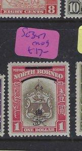 NORTH BORNEO  (P0804BB)  $1 ARMS, LION,  ROYAL CYPHER SG 347   MOG