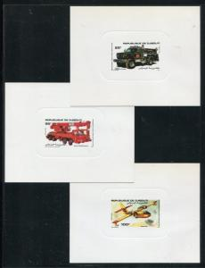 Djibouti  perforated & imperforate + deluxe sheets MNH Fire Trucks 1984 x29972