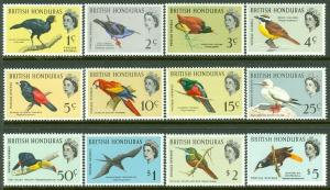 EDW1949SELL : BRITISH HONDURAS 1962 Scott #167-78 Birds Cplt set VF MNH Cat $85.