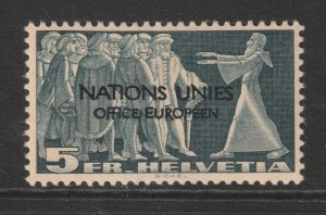 Switzerland UN a MH 5fr from the 1950 set
