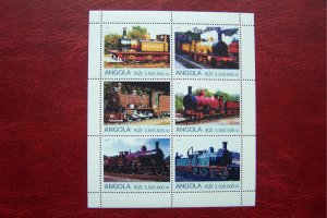 Angola 2000 MNH Trains Locomotives #4