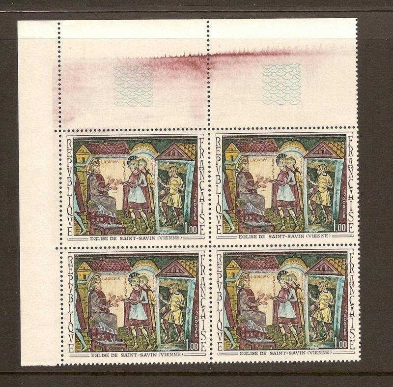 FRANCE STAMPS MNH -PAINTINGS 1969 PLATE BLOCK LOT#304