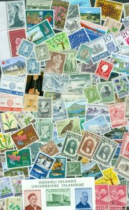Iceland. Lot 100 Different Mnh. Modern Issues.