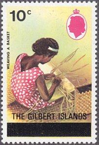 Gilbert Islands # 260 mnh ~ 10¢ Basket Weaving, overprint