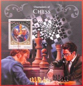 A4822 - SIERRA LEONE - ERROR MISPERF: 2016, Chess, Kasparov, Karpov, Caruana