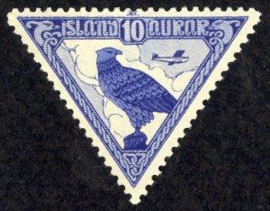 Iceland Sc# C3 MH (b) 1953 Gyrfalcon