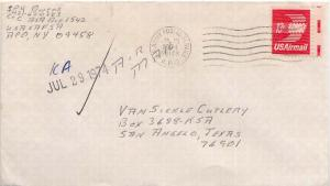 United States A.P.O.'s 13c Winged Envelope 1974 U.S. Army Postal Service, A.P...