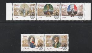Ireland Sc 1128-32 1998 1798 Rebellion, stamp set mint NH