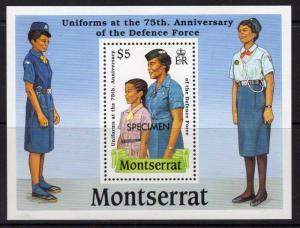 MONTSERRAT SGMS787s 1989 DEFENCE FORCE SPECIMEN MNH