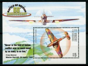St Vincent & Grenadines 2000 MNH WWII Battle of Britain 1v S/S I Aviation Stamps