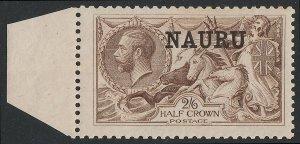 NAURU 1916 KGV Seahorses 2/6 BW Printing. .