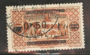 LEBANON Scott 102 used 1928 stamp Thinned