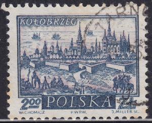 Poland 961 USED 1960 Historic Towns, Kolobrzrg 2zł