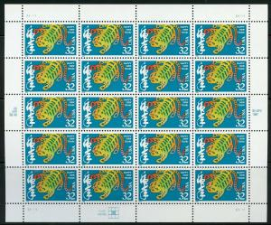 US SCOTT# 3179 YEAR OF THE TIGER COMPLETE SHEET OF 20 STAMPS MNH AS SHOWN